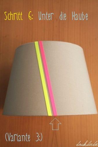 DIY: Pimp my Lampenschirm - Schritt 6: Unter die Haube